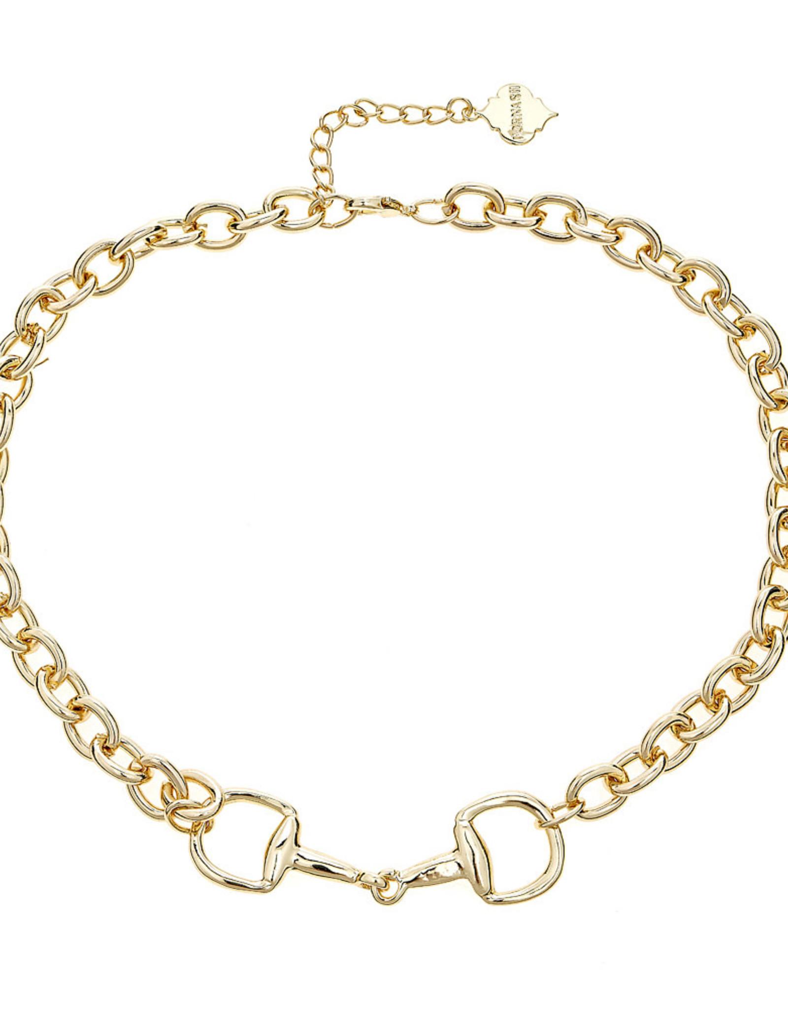 Fornash Horsebit Necklace Gold