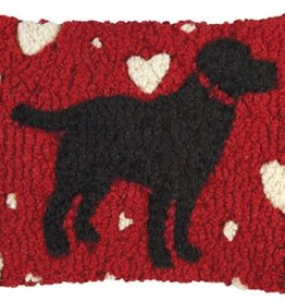 Pillow 8x12 Black Lab Love