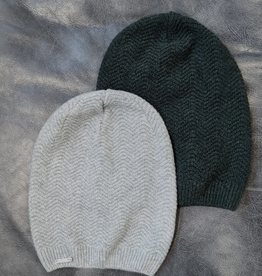Frost Slouchy Hat Merino Cashmere Grey