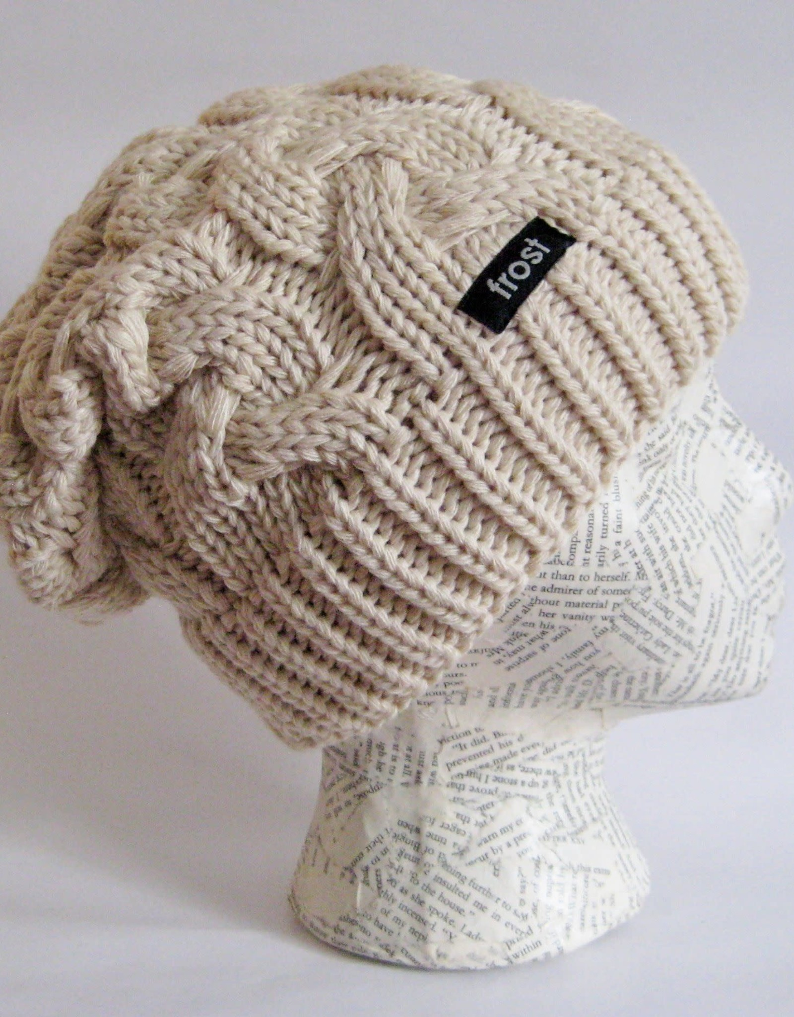 Chunky Cable Knit Merino Hat