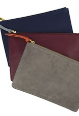 LoveVivid Leather Clutch Plum/Sky