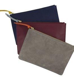 LoveVivid Leather Clutch Plum/Sky