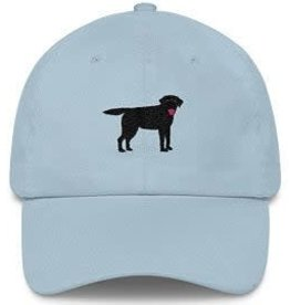 Smather's & Branson Hat Black Lab Light Blue Performance