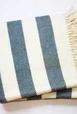 A Soft Idea Cotton Throw Candy Stripe Slate