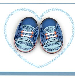 Quilling Card LLC Blue Booties Enclosure