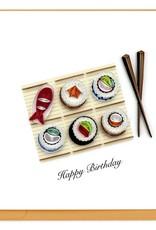 Quilling Card LLC Birthday Sushi