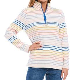 Joules Zip Neck Sweatshirt Multi Stripe