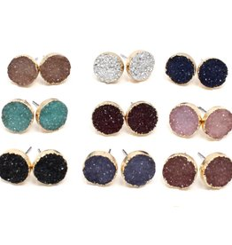 Crafts and Love Studs Druzy Mauve