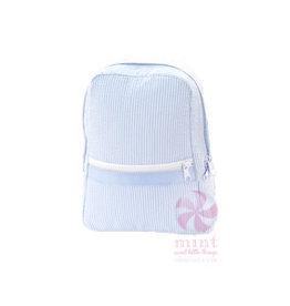 Oh Mint Small Backpack Light Blue Seersucker