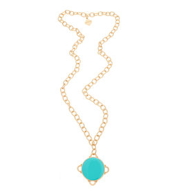 Fornash Necklace Madeline Aqua w/Monogram