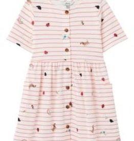 Joules Pink Stripe Icon Dress