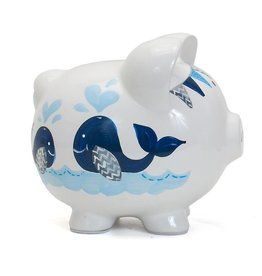 Child to Cherish Blue Whale Pig Bank
