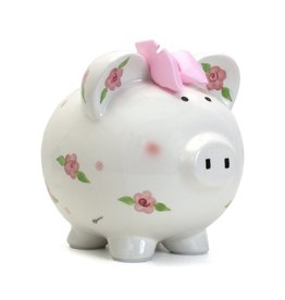 Child to Cherish Posies & Polka Dots Bank