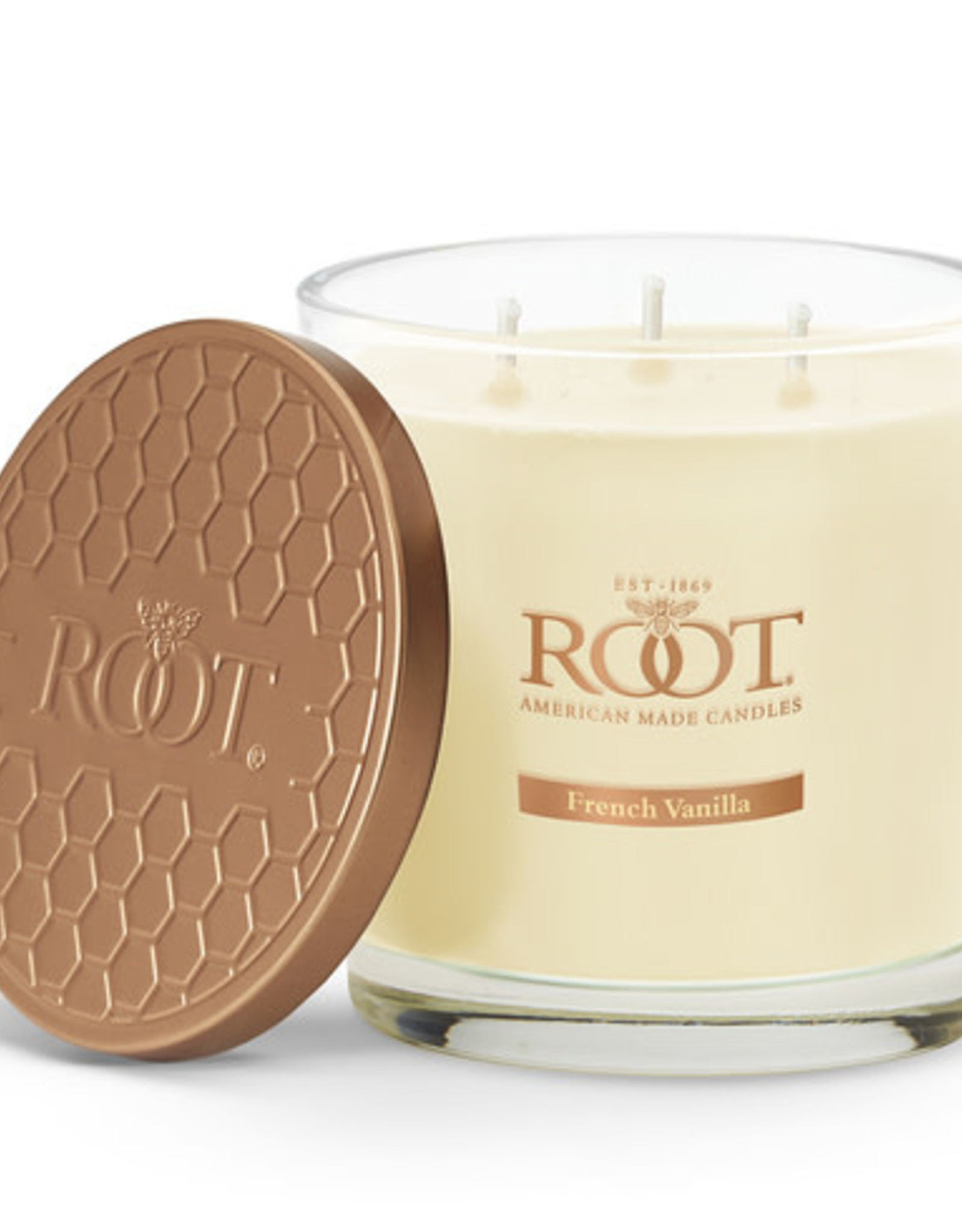 Root Candles 3 Wick 12oz Candle French Vanilla
