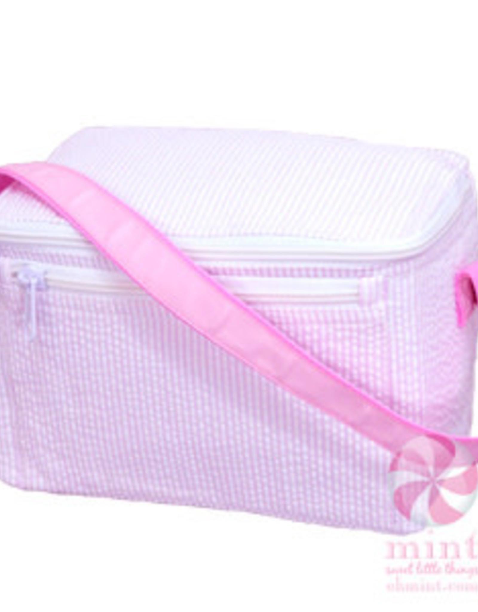 Oh Mint Lunch Box Light Pink Seersucker