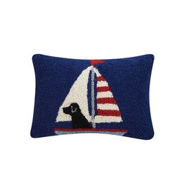Lab in Sailboat Pillow