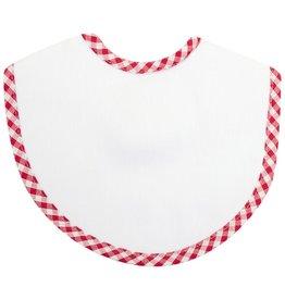 Three Marthas Red Check Burp Cloth Bib