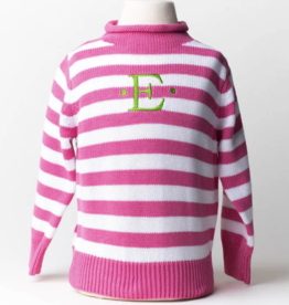 A Soft Idea Sweater  Rollneck Fuschia/White