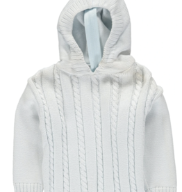Carriage Boutique Cable Hooded Sweater Blue