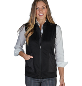Charles River Apparel Women's Ashby Mixed Media Vest Black