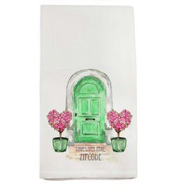 French Graffiti Green Door Towel 60044