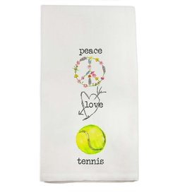 French Graffiti Peace Love Tennis Towel