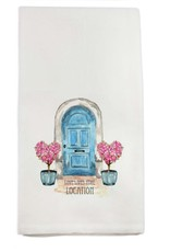 French Graffiti Blue Door Lake Bluff Towel