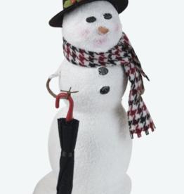 Snowman w/umbrella