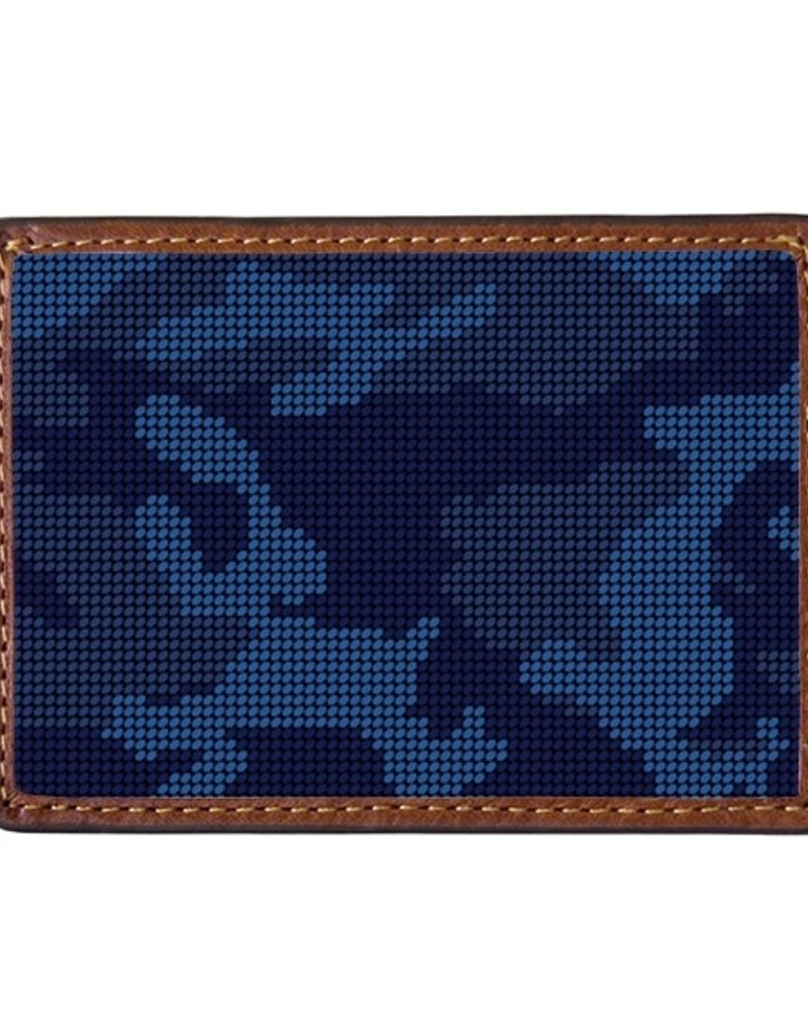 Smather's & Branson Card Wallet Navy Camo