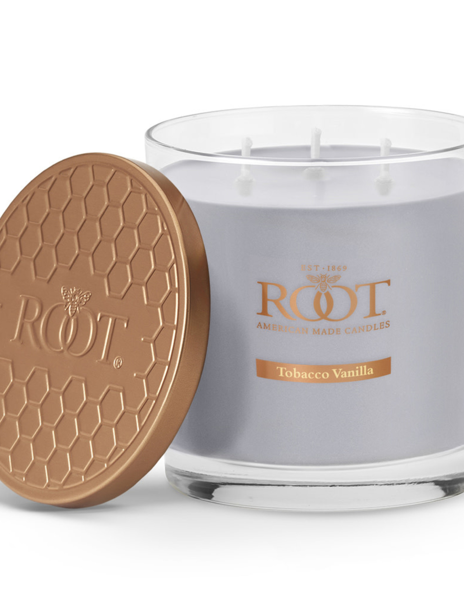 Root Candles 3 Wick 12oz Candle Tobacco Vanilla