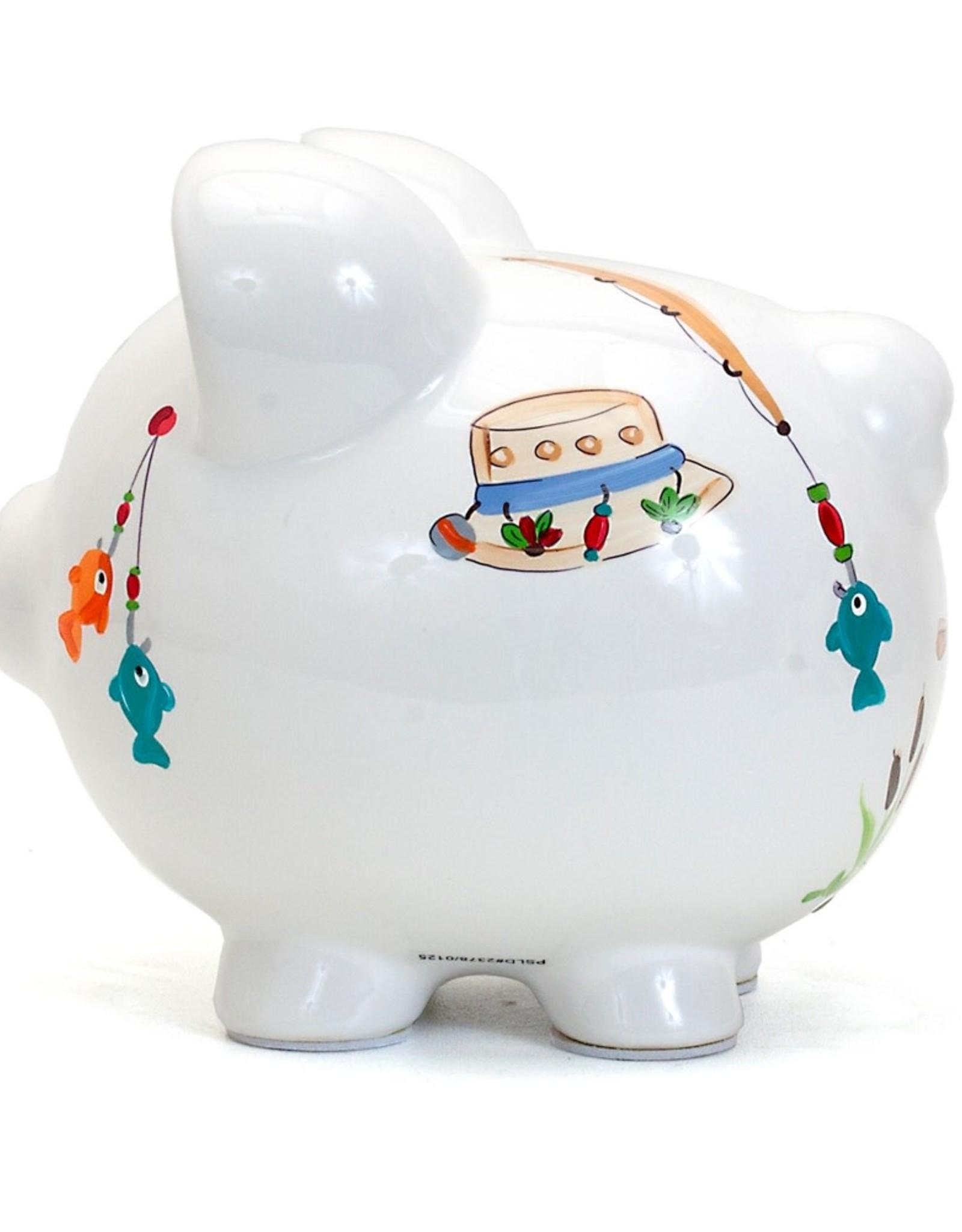 Child to Cherish Gone Fishing Pig Bank