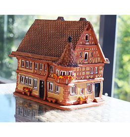 Nordic Dreams Real house Rothenburg, Germany. Ceramic candle house -  6.1 x 5.5 x 3,93 inches