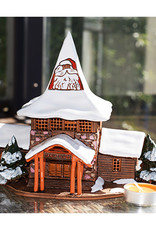 Nordic Dreams Real Santa Claus Christmas Village in Rovaniemi in Finland. Ceramic house tealight. 6,7 x 4,5 x 4,7 inches