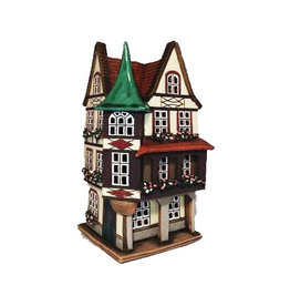 Nordic Dreams Green Turret Ceramic Candle House