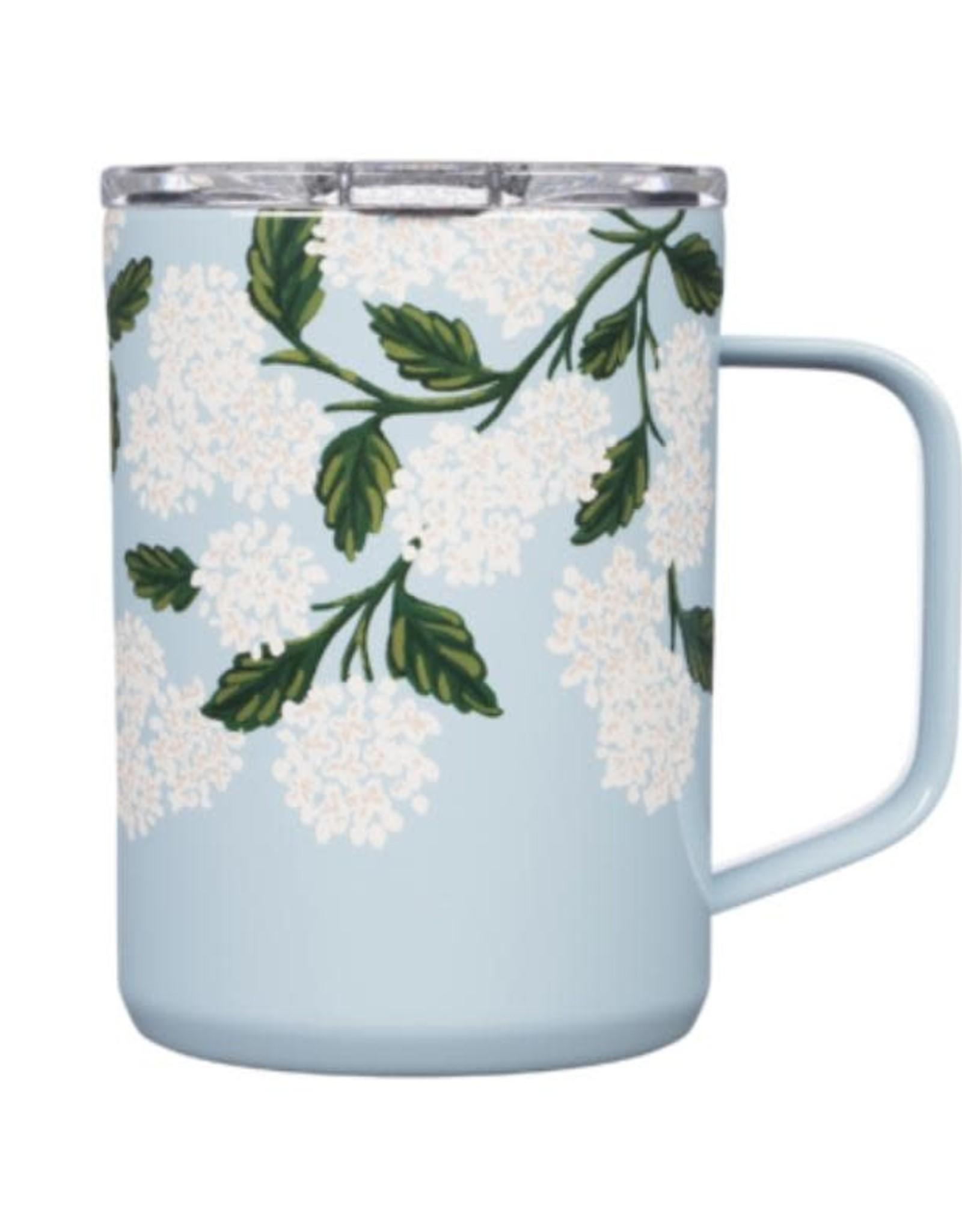 Corkcicle Mug Blue Hydrangea