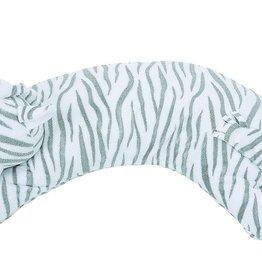 Angel Dear Curved Pillow Zebra Grey