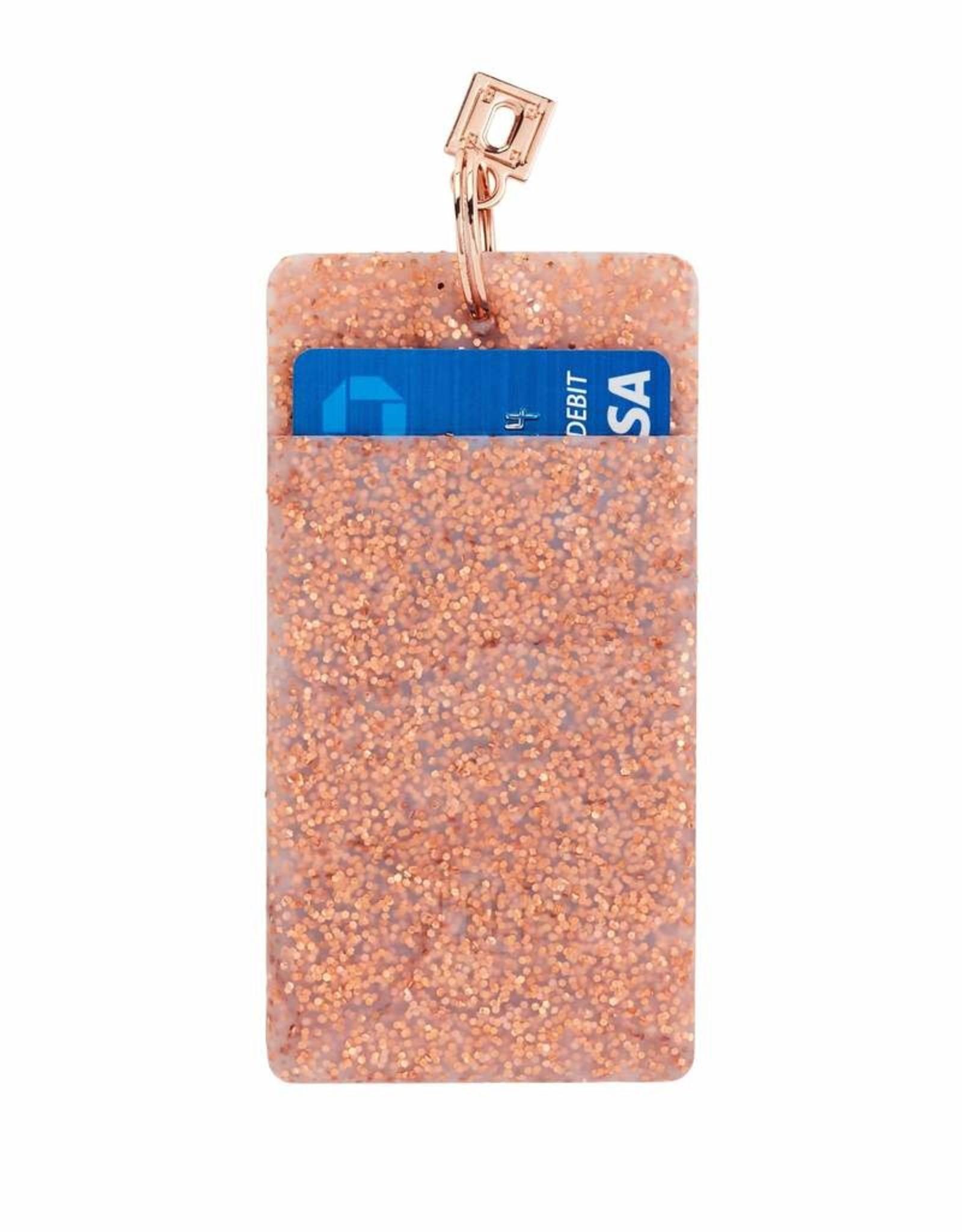 O Ventures Mini Silicone Pouch Rose Gold Confetti