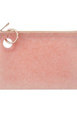 O Ventures Large Silicone Pouch Rose Gold Confetti