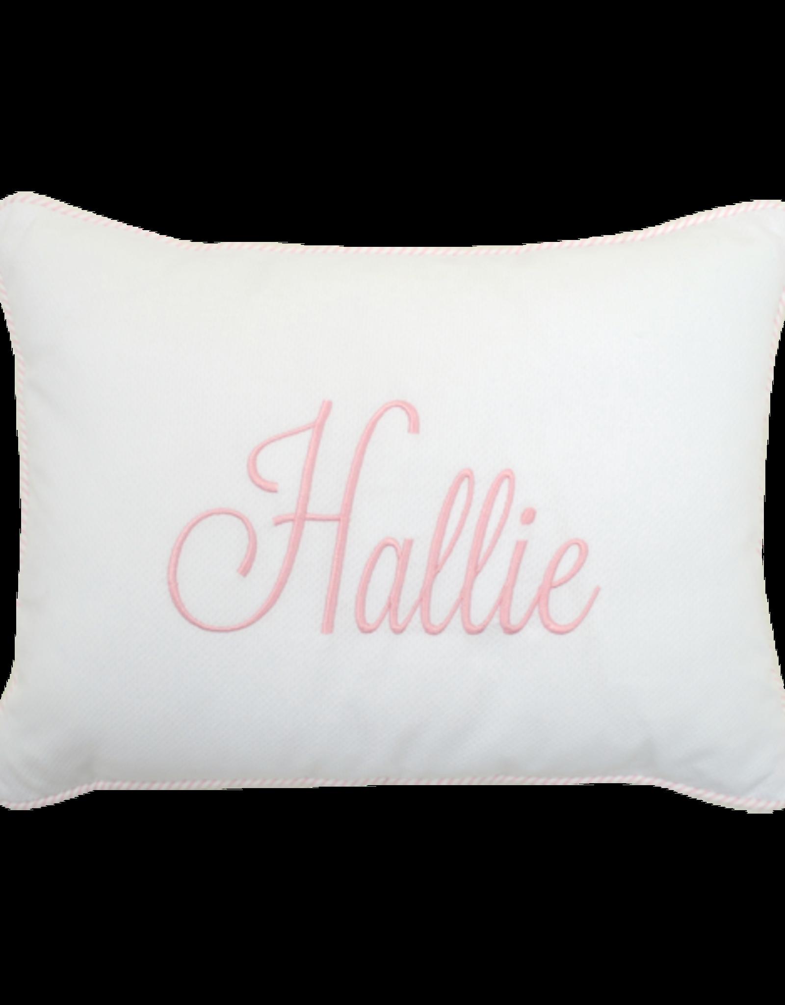 Three Marthas Baby Pillow Pink Stripe