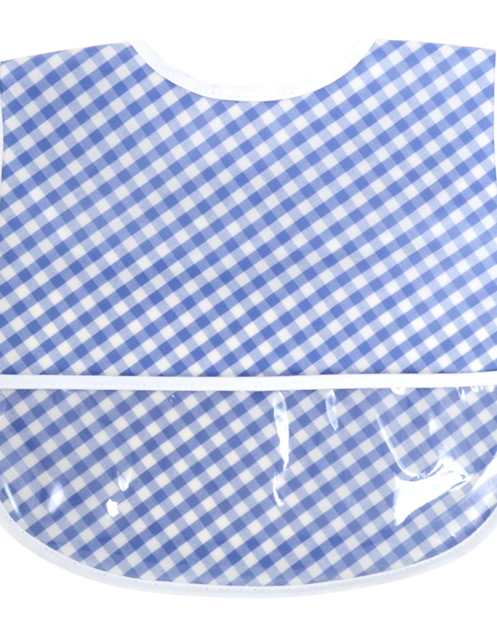 Three Marthas Bib Royal Blue Check Laminated