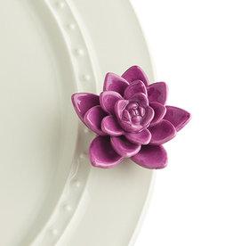 Nora Fleming Mini Get Growing purp flower
