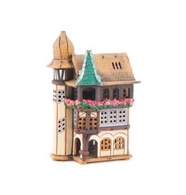 Nordic Dreams Ceramic Candle house w/turrets