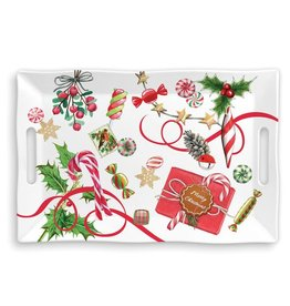 """Michel Design Works Large Tray Peppermint 18"""""""