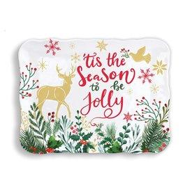 Michel Design Works Joy to the World Melamine Cookie Tray