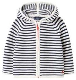 Joules Zip Cardigan Navy White Stripe