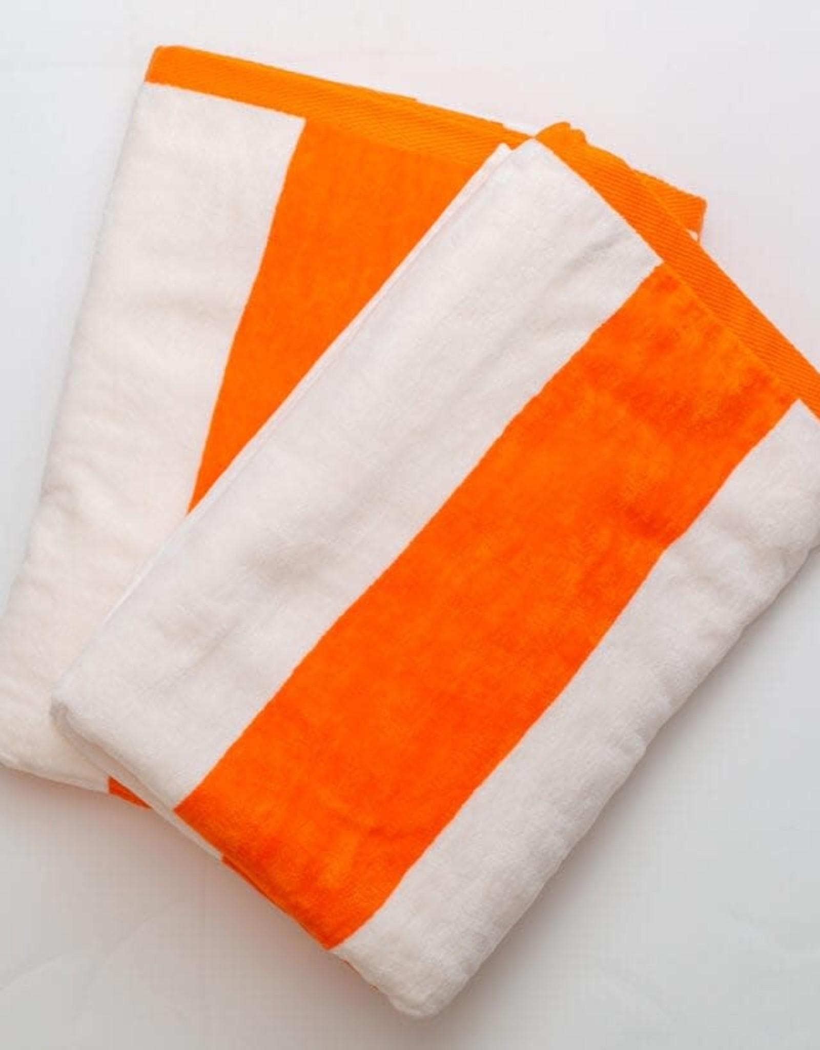 Beach Towel Orange Stripe