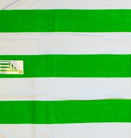 Terry Town Beach Towel Lime Stripe