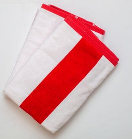 Beach Towel Red Stripe