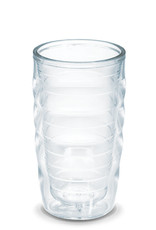 Tervis Tumbler 10oz clear wavy glass
