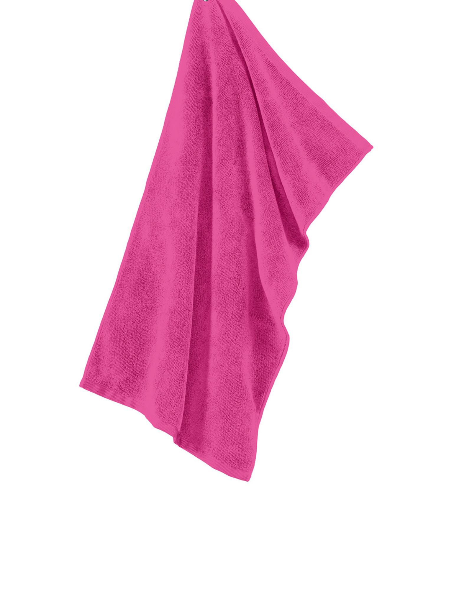 Port Authority Hot Pink Microfiber Golf Towel